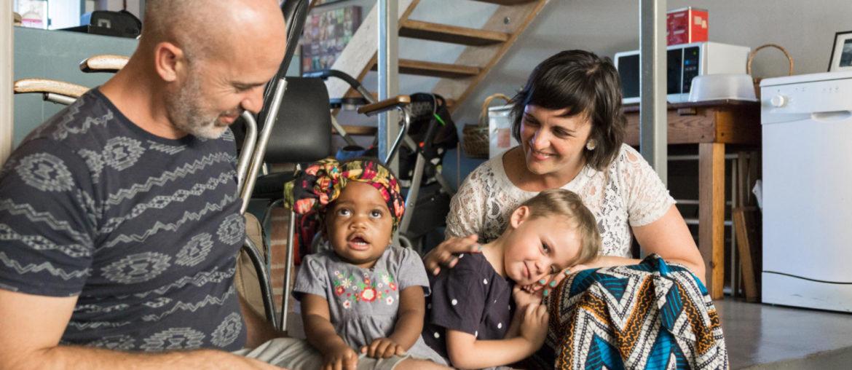 Photographer Garick van Staden and his family