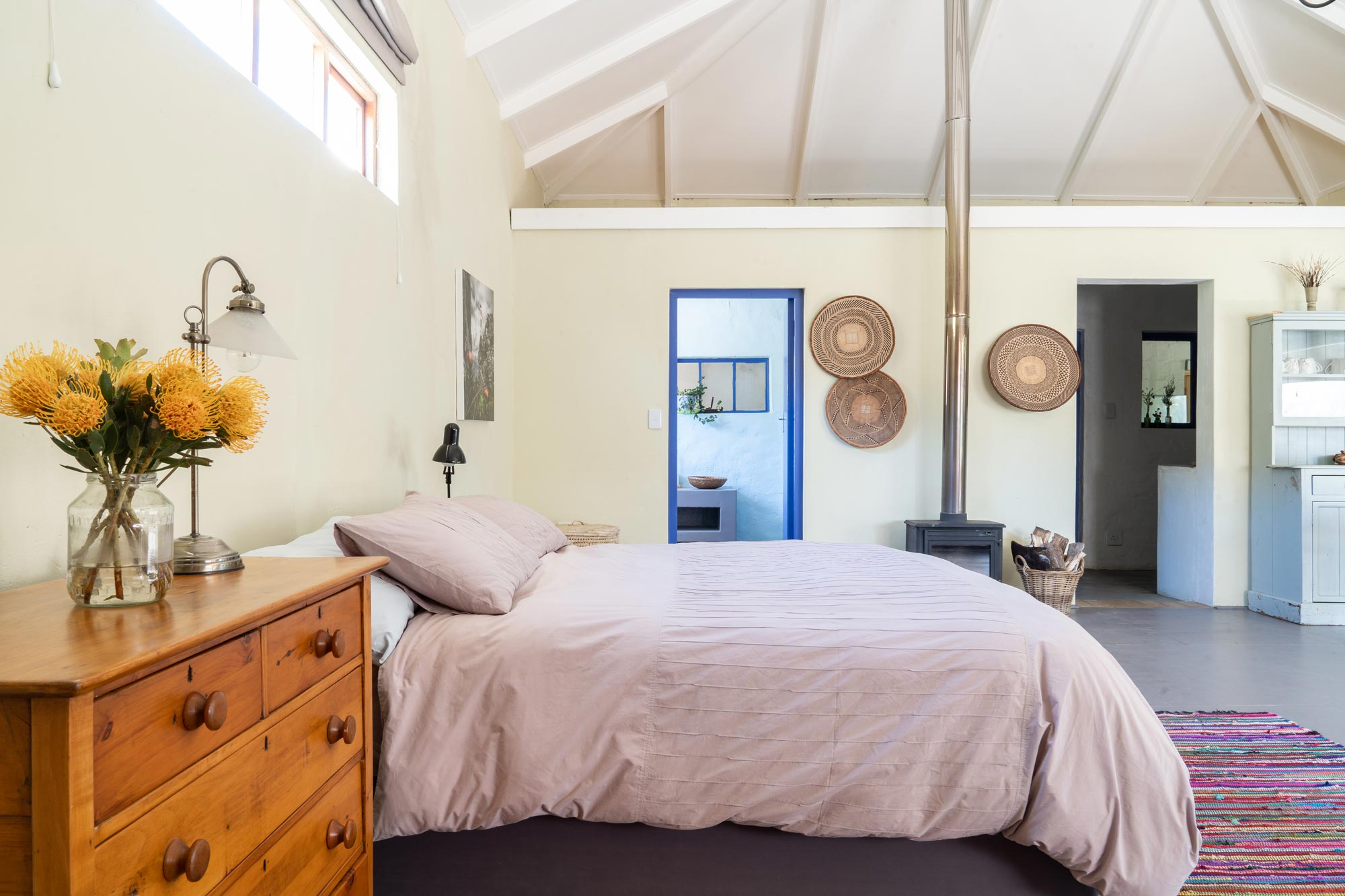 Laughing Waters organic flower farm accommodation