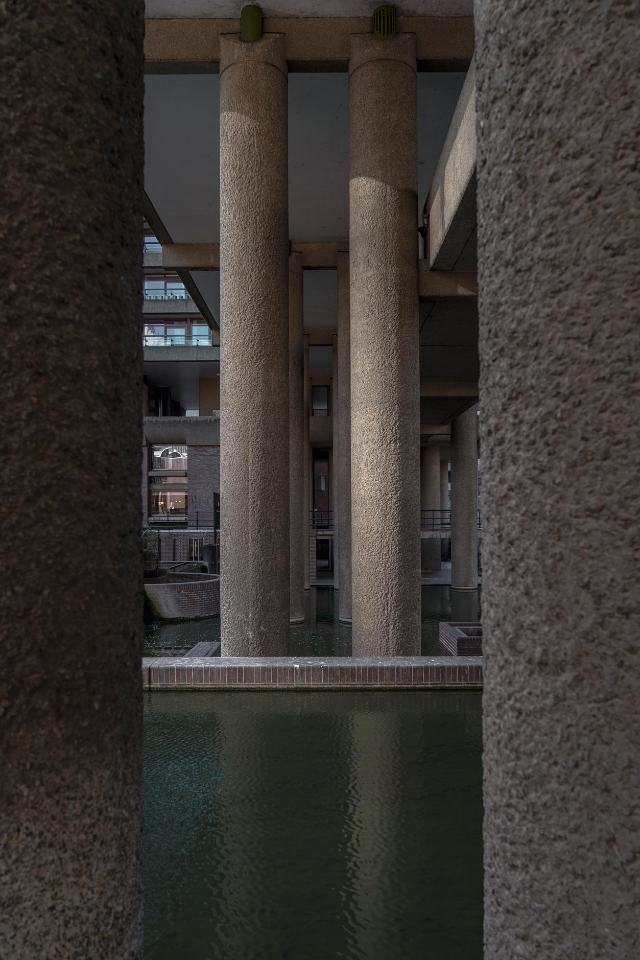 Barbican Center Pillars