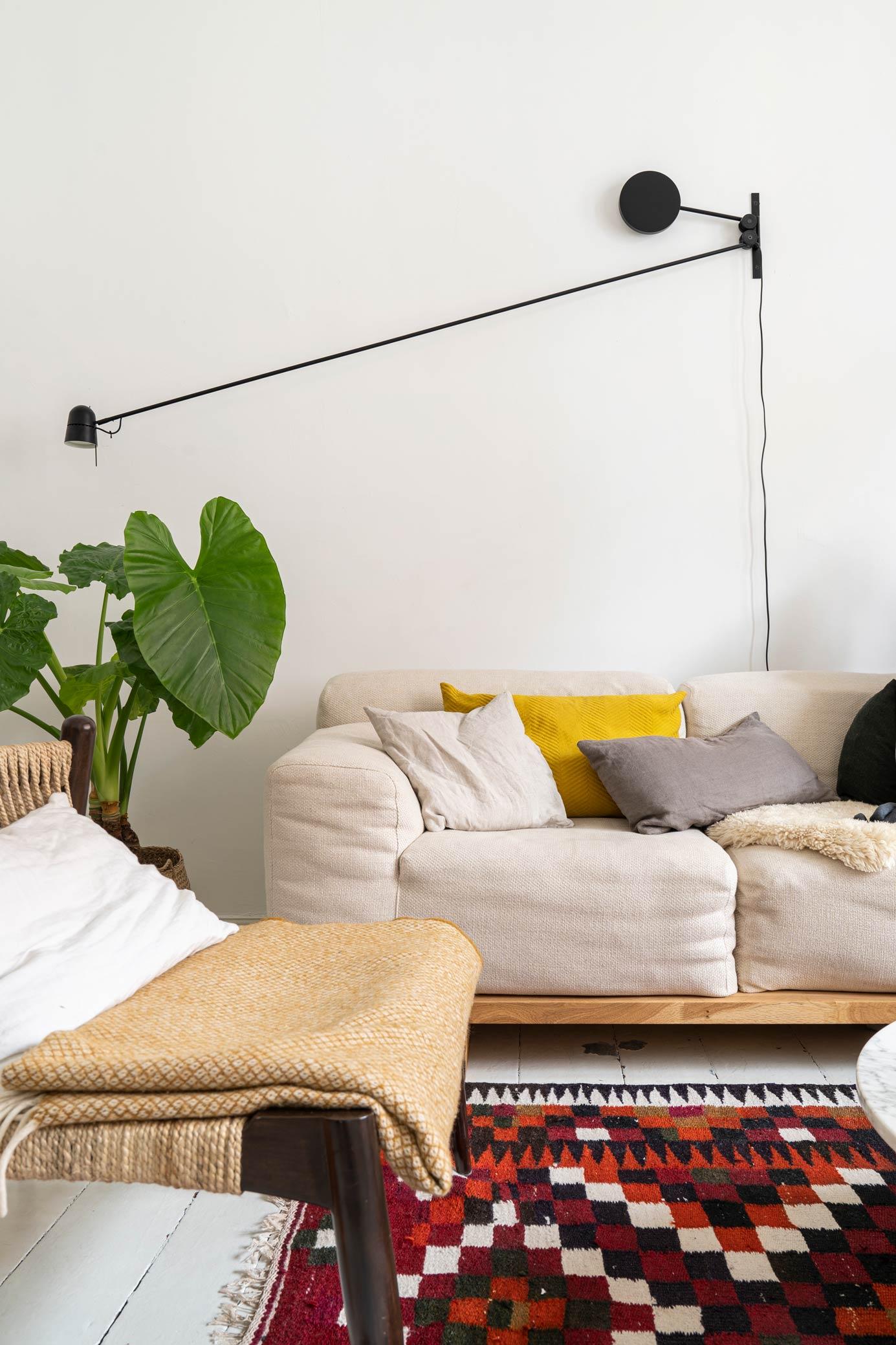 A boho livingroom